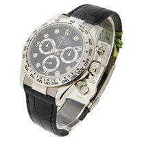 Rolex Used 16519_used_Black_DD White Gold DAYTONA on Strap...
