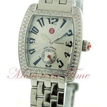 Michele Urban Mini, Silver Dial, Diamond Bezel - Stainless...