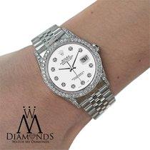 Rolex Diamond Rolex Watch - Datejust 36mm- White Dial- Jubilee...