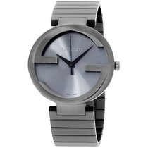 Gucci Interlocking G Anthracite Dial Stainless Steel Men's...