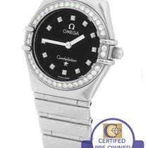 Omega Constellation Mini 22.5mm Black My Choice Diamond...
