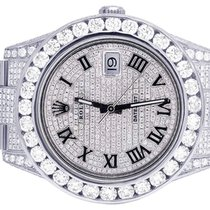 Rolex Mens Rolex Datejust II Full Iced Out 41MM 116300 Pave...