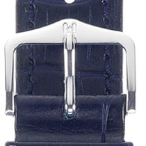 Hirsch Duke Lederarmband blau L 01028080-2-20 20mm