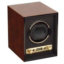 WOLF Meridian single watch winder Burl
