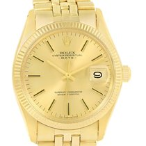 Rolex Date 14k Yellow Gold Automatic Dial Vintage Mens Watch 1503