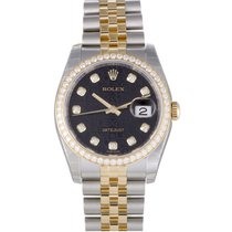 Rolex Oyster Perpetual Datejust 36mm Diamond Bezel 116243-63603