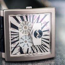Guy Ellia Time Square Quantieme Phases de Lune 18k White Gold