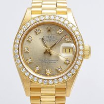 Rolex Lady Datejust 69178 Diamantblatt 750 Gold Jubilé-Blatt