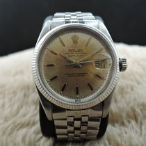 Rolex DATEJUST 6605 with Original Heavy Patina Silver Dial