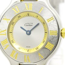 Cartier Polished Cartier Must 21 Gold Plated Steel Quartz...