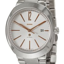 Rado D-Star XL Automatic Steel Mens Watch Silver Dial Calendar...