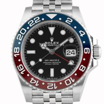 "Rolex GMT-Master II ""Pepsi"" Stainless Steel Black Dial..."