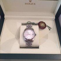 Rolex datejust 31 diamanti oro gold diamond Full set