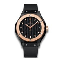 Hublot Classic Fusion 33mm Quartz Black Ceramic Mens Watch Ref...