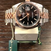 "Rolex Datejust 36 Steel/Rosegold ""Black-Index-Jubilee""..."