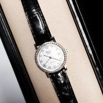 Chopard 18k White Gold Ladies Watch W/ Diamond Bezel & New...