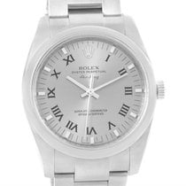 Rolex Air King Slate Roman Dial Automatic Mens Watch 114200