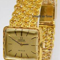 Omega DeVille 18k Yellow Gold 24J Automatic Ladies Bracelet Watch