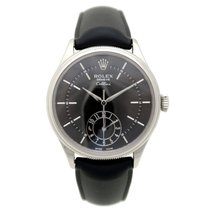 Rolex cellini dual time 50529 39 mm automatic or gris watch