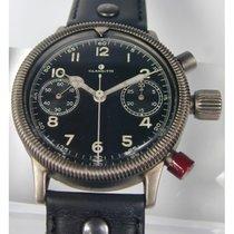 Glashütter Chronograph, Urofa 59, 1 A, vom Jagdflieger mit Orden.