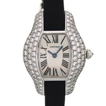 Cartier Tonneau 18K Solid White Gold Diamonds