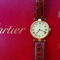 Cartier Vermeil Silber 925 Elegante Unisex Luxus Armbanduhr 30mm