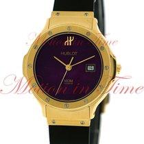 Hublot MDM 33mm, Metallic Purple Dial - Yellow Gold on Strap