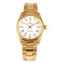 Rolex OYSTER PERPETUAL  18k Y. Gold 'White Roman'...