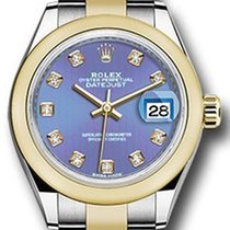 Rolex Lady Datejust 28 Lavender Dial Steel and 18kt Yellow...