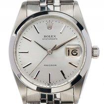 Rolex Oysterdate Precision Stahl Handaufzug Armband Jubilé...
