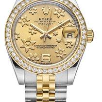 Rolex Unworn 178383 Datejust Mid Size 2-Tone in Steel with...