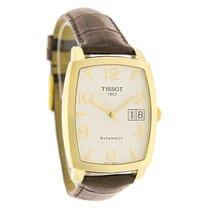 Tissot Mens Sculpture 18K Brown Swiss Automatic Watch T71.3.63...
