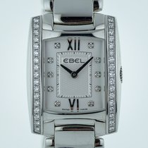 Ebel Brasilia Ladies, Stainless Steel, Silver Diamond Dial,...