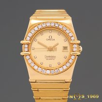 Omega Constellation  18K  Gold  Diamonds Lady  Box