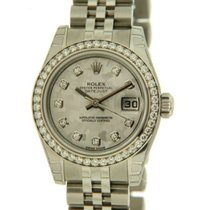 Rolex Datejust Lady 179384 Steel, Diamonds And Gold Crystel...