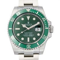 Rolex Submariner Steel Ceramic Green Dial Watch 40mm NEW