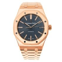 Audemars Piguet New  Royal Oak 18k Rose Gold Blue Automatic...