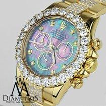 Rolex Daytona 40mm 16528 18k Yellow Gold Custom Diamonds Dial...