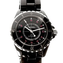 Chanel J12 Automatic 38mm Black Ceramic Ruby Dial - H1635