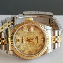 Rolex S-Serie 69173 Date Just Gold no stretch Jubile Diamond dial