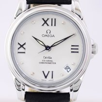 Omega DeVille CoAxial Lady Chronometer Silver Roman Dial...