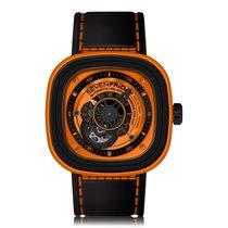 Sevenfriday P-Series Black Orange Automatic Mens Watch P1/03
