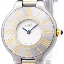 Cartier Must 21 Gold Plated Stainless Steel Quartz Ladies...