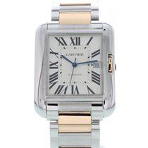 Cartier Tank Anglaise 18K Rose Gold & SS 3507