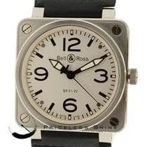 Bell & Ross Br01-92-s Automatic Men's Watch White Dial...