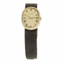 Audemars Piguet Ladies Oval Diamond 18K Yellow Gold Watch