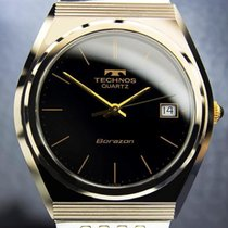 Technos Borazon Swiss Made Golden Tungsten Quartz Rare 1970s...