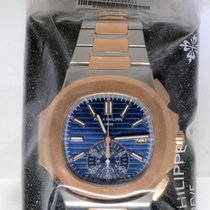 Patek Philippe Nautilus Chronograph Steel & 18k Rose Gold...