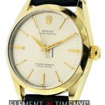 Rolex Oyster Perpetual 14k Yellow Gold Shell 34mm Silver Dial
