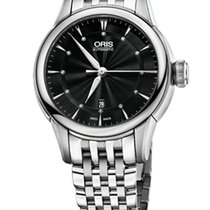 Oris Artelier Date Diamonds Steel Black Dial